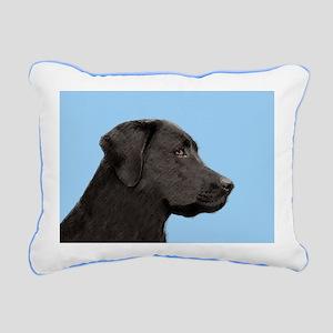 Labrador Retriever (Blac Rectangular Canvas Pillow