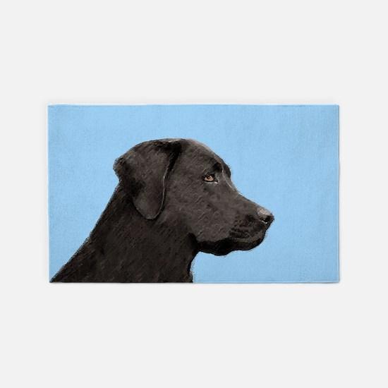 Labrador Retriever (Black) Area Rug