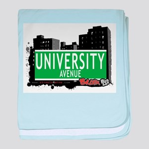 University Ave baby blanket