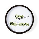 Owens Family Historian Wall Clock