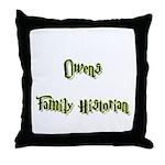 Owens Family Historian Throw Pillow