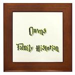 Owens Family Historian Framed Tile