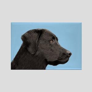 Labrador Retriever (Black) Rectangle Magnet