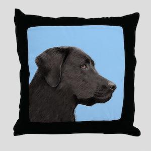 Labrador Retriever (Black) Throw Pillow