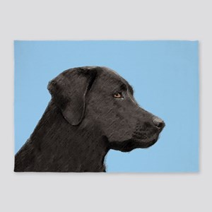 Labrador Retriever (Black) 5'x7'Area Rug