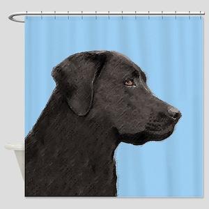 Labrador Retriever (Black) Shower Curtain