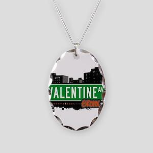 Valentine Ave Necklace Oval Charm