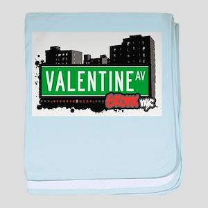 Valentine Ave baby blanket