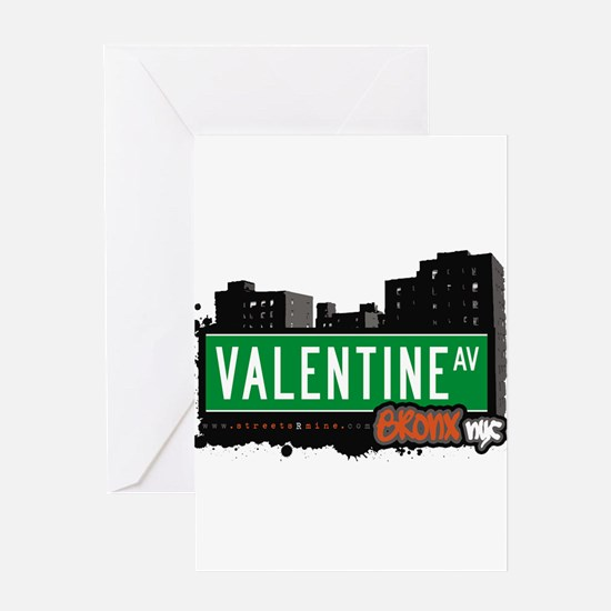 Valentine Ave Greeting Card