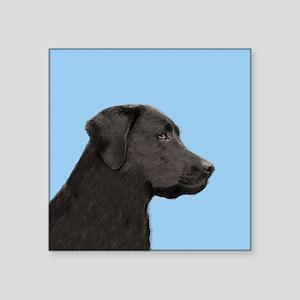 """Labrador Retriever (Black) Square Sticker 3"""" x 3"""""""