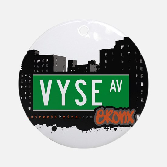 Vyse Ave Ornament (Round)