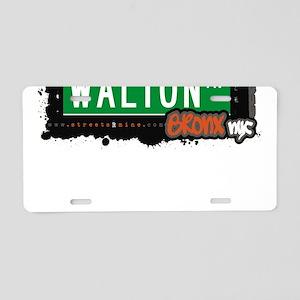 Walton Ave Aluminum License Plate