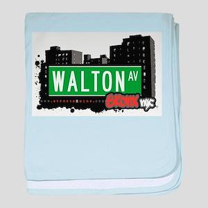 Walton Ave baby blanket
