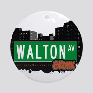 Walton Ave Ornament (Round)