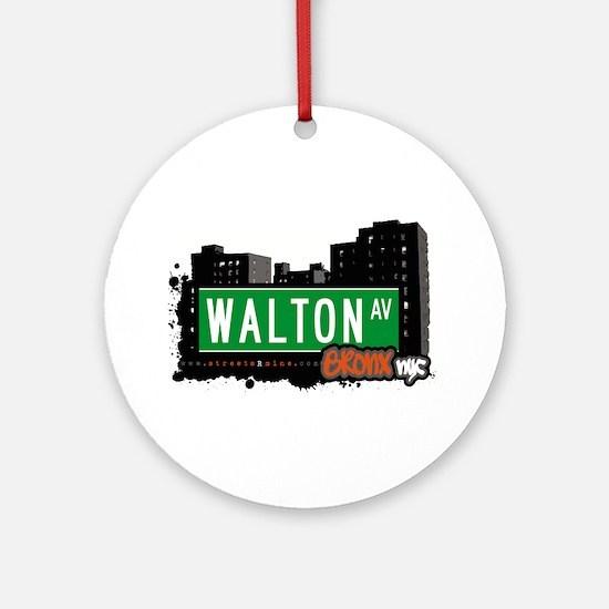 Walton Ave Ornament (Round)