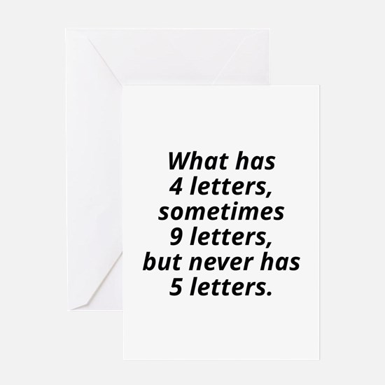 What Has 4 Letters Greeting Card