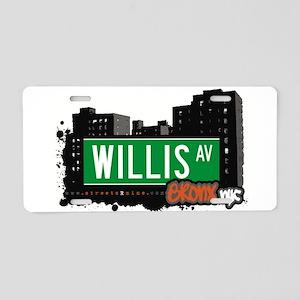 Willis Ave Aluminum License Plate