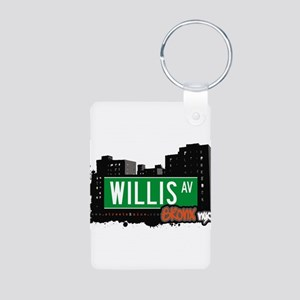 Willis Ave Aluminum Photo Keychain