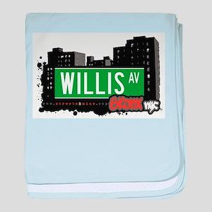 Willis Ave baby blanket