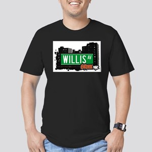Willis Ave Men's Fitted T-Shirt (dark)