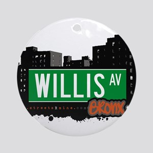 Willis Ave Ornament (Round)