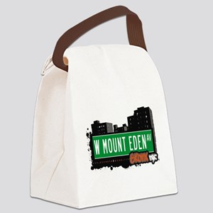 W Mount Eden Ave Canvas Lunch Bag