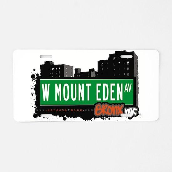 W Mount Eden Ave Aluminum License Plate
