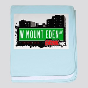 W Mount Eden Ave baby blanket