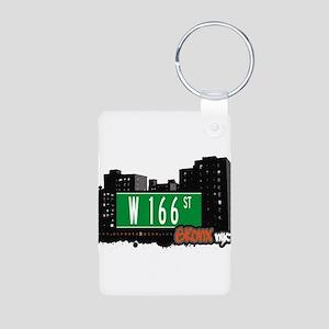 W 166 ST Aluminum Photo Keychain