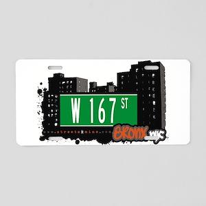 W 167 ST Aluminum License Plate