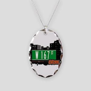 W 167 ST Necklace Oval Charm