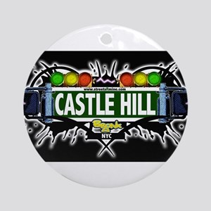 castlehill Bronx NYC (Black) Ornament (Round)