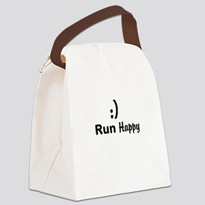 Run Happy Running Canvas Lunch Bag