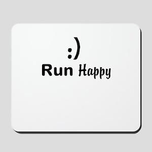 Run Happy Running Mousepad