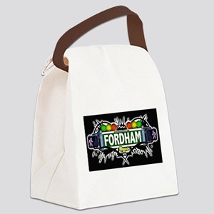 fordham Bronx NYC (Black) Canvas Lunch Bag