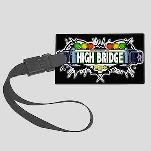 high bridge Bronx NYC (Black) Large Luggage Tag