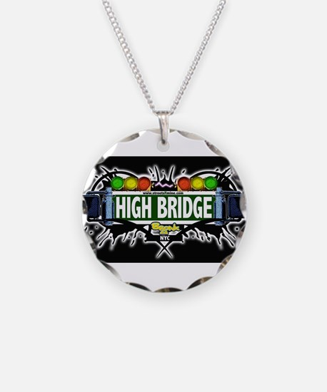 high bridge Bronx NYC (Black) Necklace