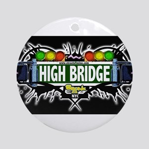 high bridge Bronx NYC (Black) Ornament (Round)
