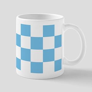 Sky Blue Checkerboard Mug