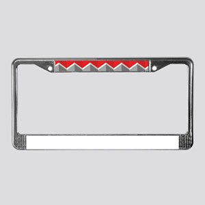 Chevron red License Plate Frame