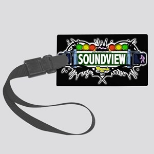 Soundview Bronx NYC (Black) Large Luggage Tag