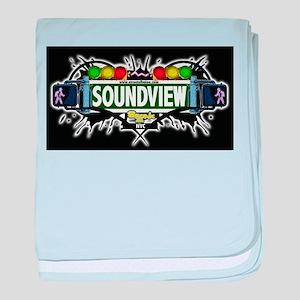 Soundview Bronx NYC (Black) baby blanket
