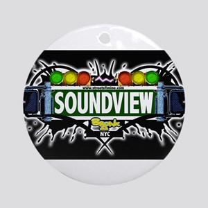 Soundview Bronx NYC (Black) Ornament (Round)