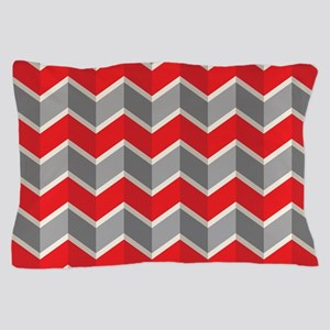 Chevron red Pillow Case
