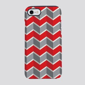 Chevron red iPhone 7 Tough Case