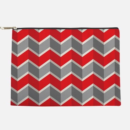 Chevron red Makeup Pouch