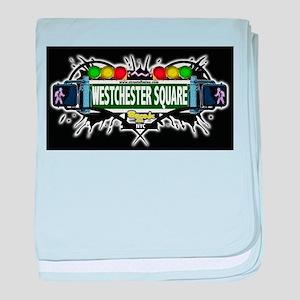 westchester square Bronx NYC (Black) baby blanket