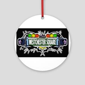 westchester square Bronx NYC (Black) Ornament (Rou