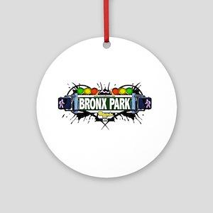 Bronx Park Bronx NYC (White) Ornament (Round)
