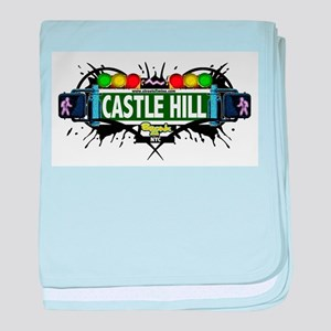 Castle Hill Bronx NYC (White) baby blanket